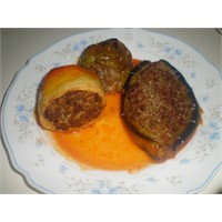 Fırında Biber Patlıcan Ve Patates Dolması