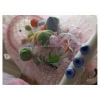 Süslü Bebek Bez Pastamız Ve Sepetlerimiz