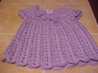 Tığ İle Bebek Elbisesi Modeli