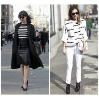 Sokaklarda Siyah & Beyaz Modası
