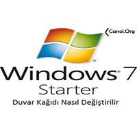 Windows 7 Starter'da Duvar Kağıdını Değiştirmek Mi