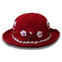 Çocuklara Örgü Çiçekli Şapka Modeli (Anlatımlı)