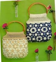 Tığla Çiçek Motifli Yazlık Çanta Yapımı (şemalı )