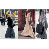 Maksi Etek /uzun Elbiseler Kışın Nasıl Kombinlenir