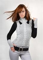 2010 Örgü Modern Genç Kız Suveter Modeli