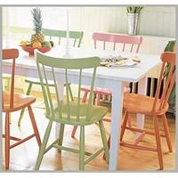 Mutfakta Renkli Sandalye Tasarımları