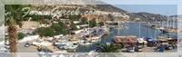 Akdenizin Küçük Bir Koyunda Kurulmuş Liman Yerleşk
