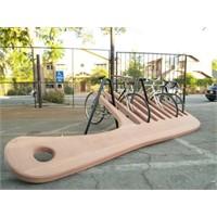 Bisikletler İçin Dev Tarak Görünümlü Park Yeri...