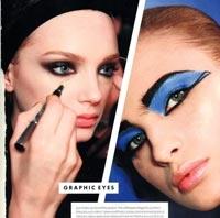 Bu Kış Kleopatra Gözler, Renkli Kirpikler Moda