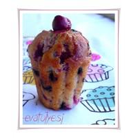 Vişneli Ve Damla Çikolatalı Cupcake