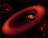 Nasa Teleskobu Spitzer, Satürn ün Çevresinde Dev B