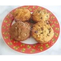 Damla Çikolatalı Ve Muzlu Muffin