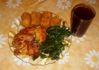 Patates Kroket Ve Tavuk Kanadı
