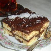 Çikolatalı Kedi Dili Pasta