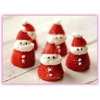 Çilekten Noel Baba Tarifi