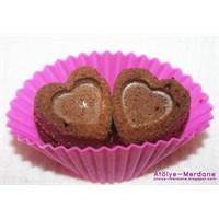 Frambuazlı Mini Kalp Kek