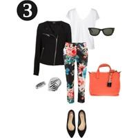 Tek Parça Üç Stil: Çiçekli Pantolon