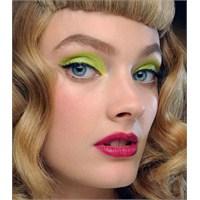 2013 Yaz Makyaj Fikirleri - Neon Göz Makyajı