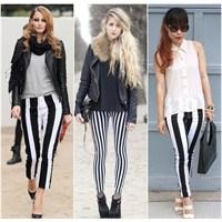 2013 Yazlık Çizgili Pantolon Modelleri