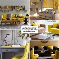 Dekorasyonda Sarı Ve Gri