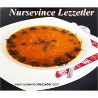Mahluta Pirinçli Kırmızı Mercimek Çorbası