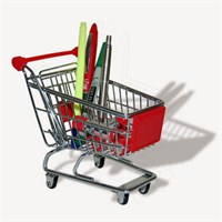Mini Alışveriş Arabası - Mini Shopping Trolley