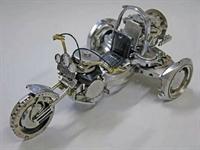Saat Parçalarından Yapılmış Motosikletler