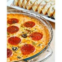 Fırında Pizza Görünümlü Omlet