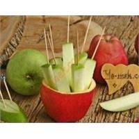 Sağlıklı Atıştırmalıklar (Elma Dilimleri)