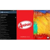 Samsung Galaxy Note 3 Android 4.4 Güncellemesi Hak
