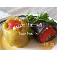 Etli Biber Ve Patlıcan Dolması
