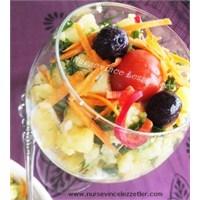 Klasik Patates Salatası Sarımsak Soslu