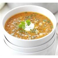 Nohutlu Ve Kimyon Tohumlu Kırmızı Mercimek Çorbası