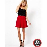 Kırmızı Renkli Etek Modelleri