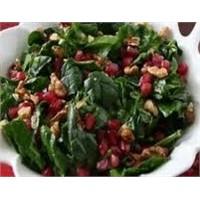 Narlı İspanak Salatası Hazılanışı
