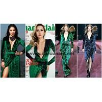 Ortak Zevkler : Gucci Leopar Desenli Kadife Elbise