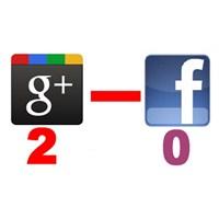 İlk Yarı / Google + ( 2 ) - ( 0 ) Facebook