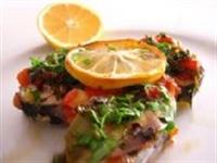 Domates Soslu Balık Yemeği
