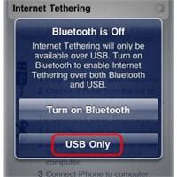İphone Cihazınızı Modem Olarak Kullanın