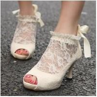 Dantelli Gelin Ayakkabısı Modelleri