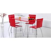 Kırmızı Mutfak Masası Takımları
