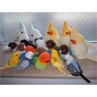 Örgüden Dekoratif Kuşlar