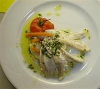 Mevsim Sebzeleriyle Yeşil Soslu Dil Balığı