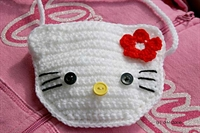 Hello Kitty Tığ İşi Örgü Hello Kitty Çanta Yapımı