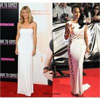Ünlülerin Beyaz Elbiseleri