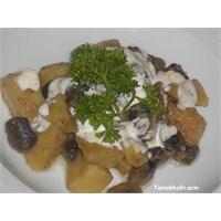 Mantarlı Patates Yemeği