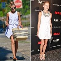 Olivia Palermo'nun Bir Elbise İle İki Kombini