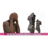 Metal Zincirlerden Yapılmış Üç Boyutlu Heykeller..