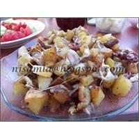 Baharatlı Ve Kaşarlı Patates