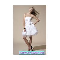 Beyaz Abiye Gece Elbisesi Modelleri 2012